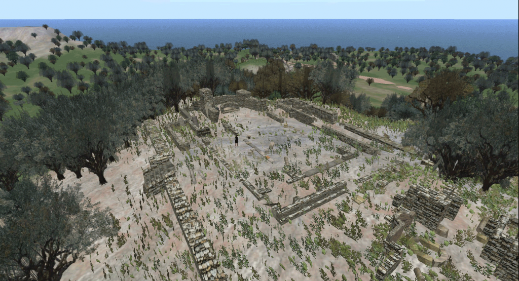 Virtual reconstruction of the site in Greece,  as it is now.