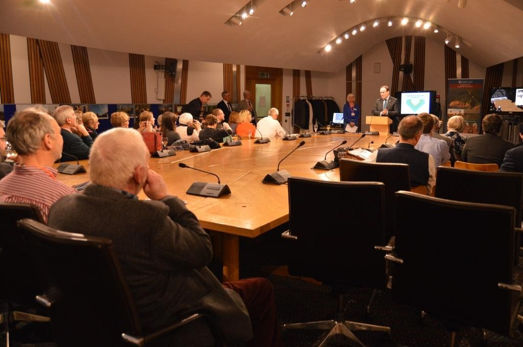 Presentation on the Eyemouth Fort Project at Holyrood, Scottish Parliament.