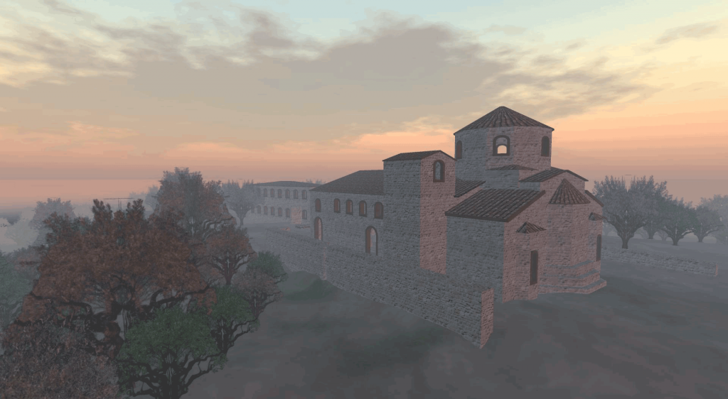 The reconstruction of Sparta Basilica.