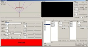 Chimera's GUI. Here showing the Flythrough plugin.