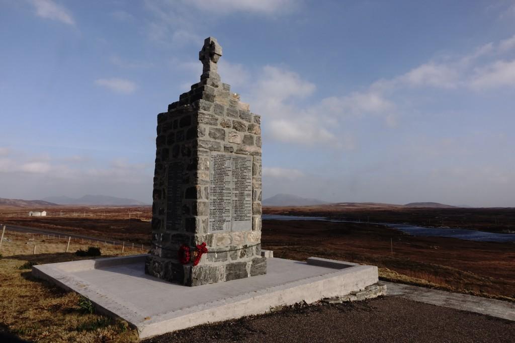 War memorial in Clachan, North Uist